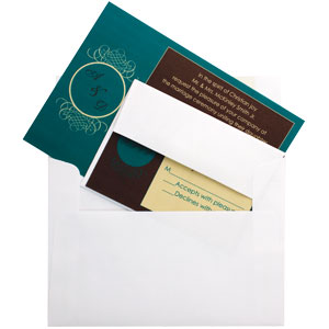 Wedding Invitation Assembly - Invitation with RSVP card