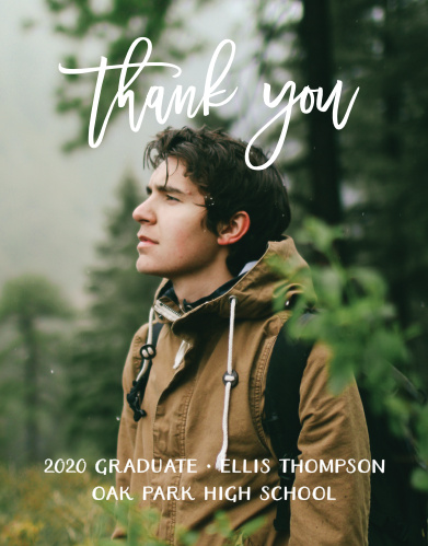 thank you grad photo graduation thank you notes high school college