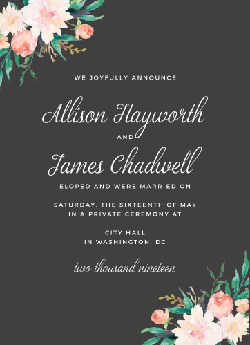 wedding announcements cards