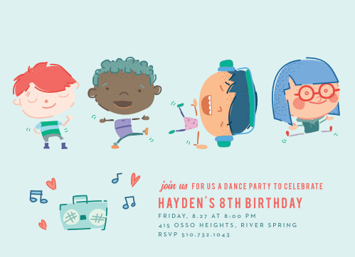 Kids birthday invitations kids birthday party invites basic invite filmwisefo