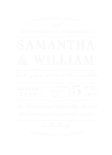 Vintage Wedding Invitations by Basic Invite