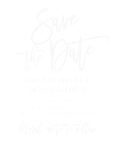 clear save the date wedding