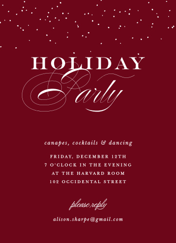Christmas party invitations match your color style free basic christmas party invitations match your color style free basic invite stopboris Gallery