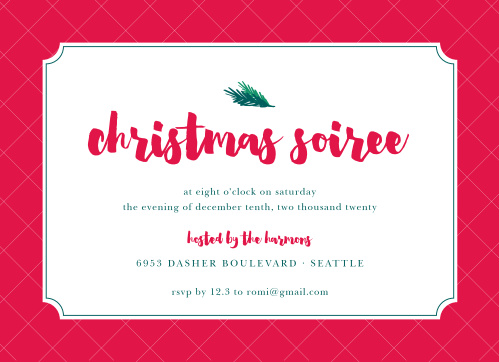 christmas party invitations match your color style free basic invite