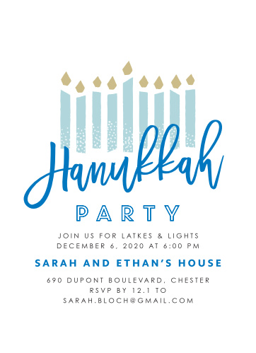 hanukkah party invitations match your color style free basic