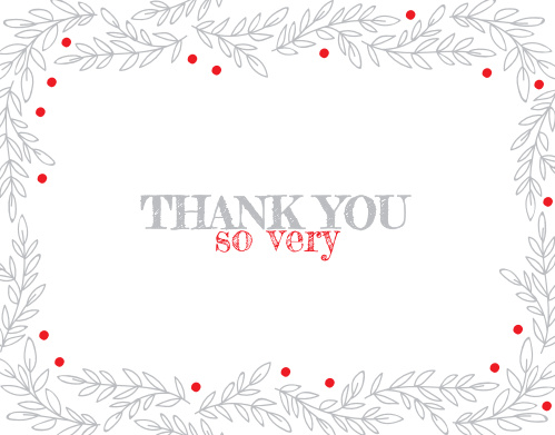 holiday thank you cards