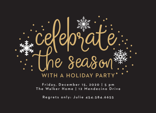 Christmas Party Invitations – Snowflake Party Invitations