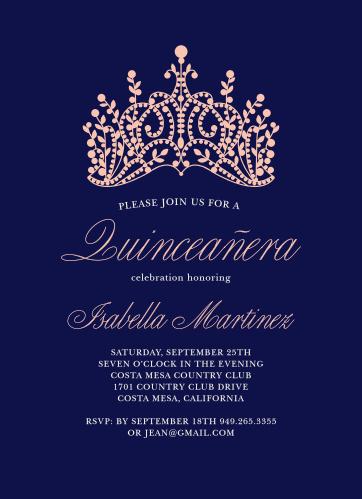 Quinceaera invitations match your color style free basic invite stopboris Gallery