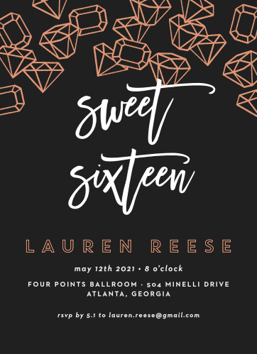 Sweet 16 invitations match your color style free basic invite filmwisefo