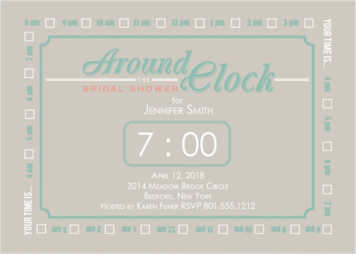 clock bridal shower bridal shower gift ideas around