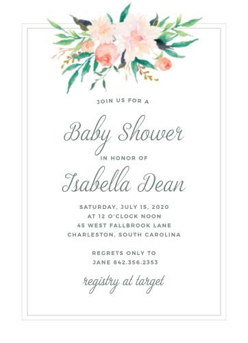 Baby shower invitations for girls basic invite filmwisefo