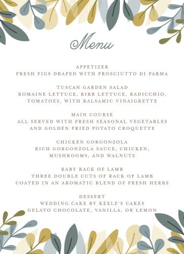 Wedding menus design your menu instantly online basic invite junglespirit Choice Image