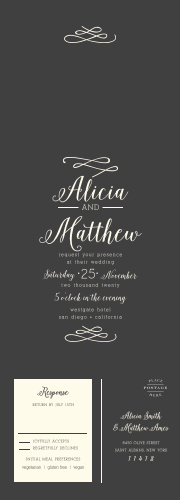 Seal And Send Wedding Invitations All In One Basic Invite