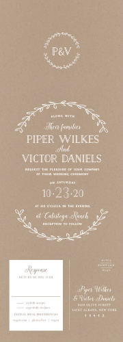 Seal And Send Wedding Invitations, All In One Wedding Invitations   Basic  Invite