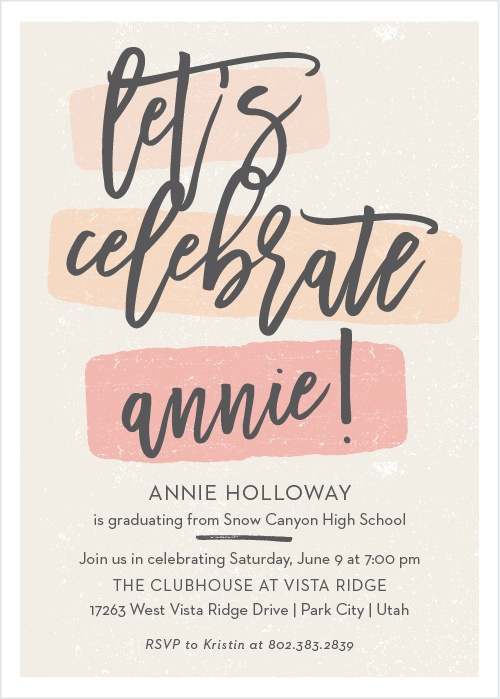 Sample Invitation Double Celebration. 2018 Graduation Announcements  Invitations For High School and College