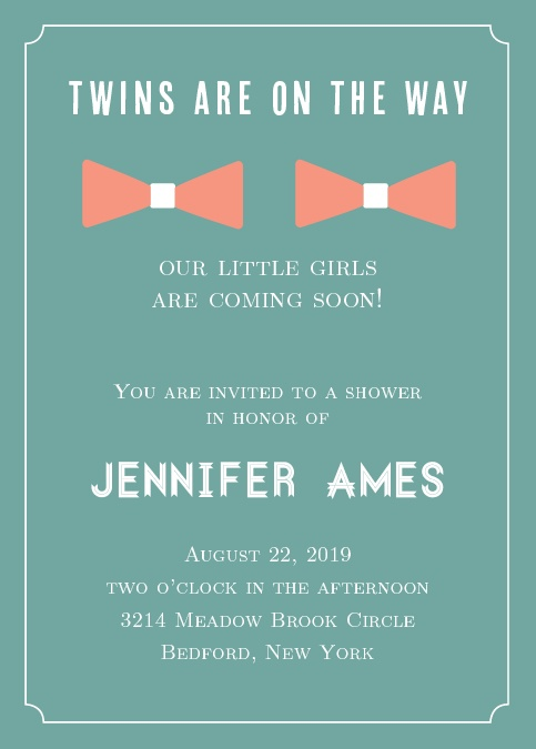 Baby shower invitations for twins basic invite filmwisefo Images