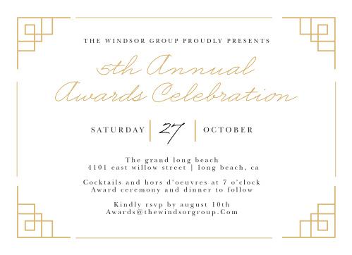 Gala invitations corporate event dinner invitations basic invite stopboris Gallery
