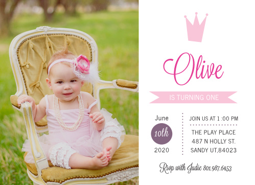 baby first birthday invitations
