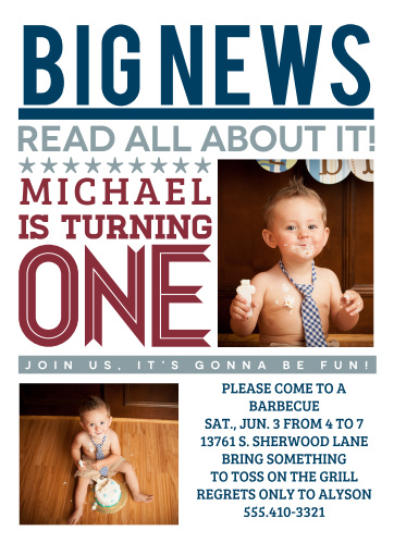 Boys first birthday invitations by basic invite stopboris Images
