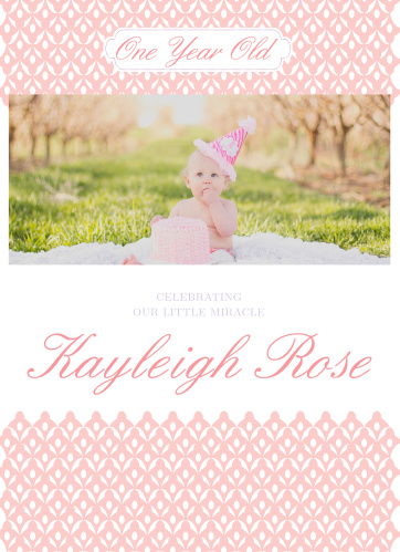 First Birthday Invitations – One Year Old Birthday Invitation