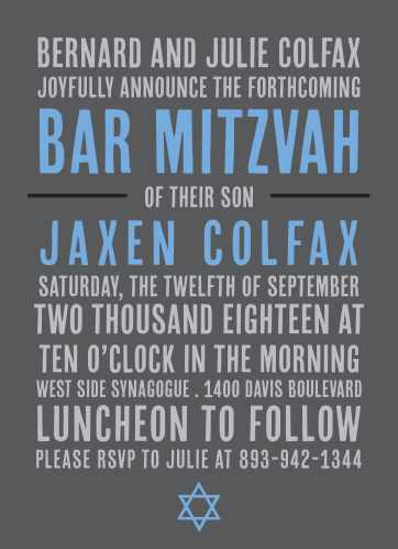 Bar mitzvah invitations match your colors style free basic bar mitzvah invitations match your colors style free basic invite solutioingenieria Gallery