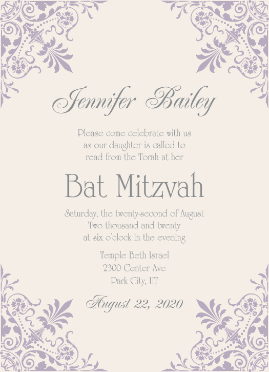 Bar Mitzvah Bat Mitzvah RSVP Cards