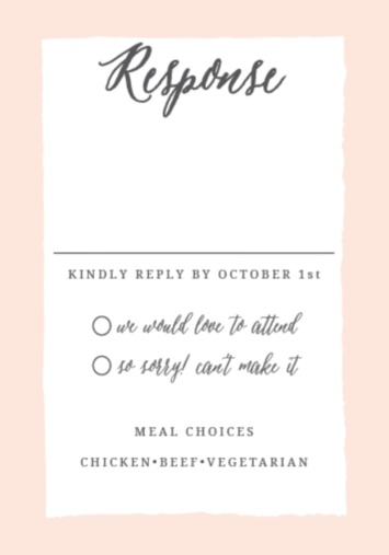 Wedding rsvp cards match your color style free basic invite filmwisefo Choice Image
