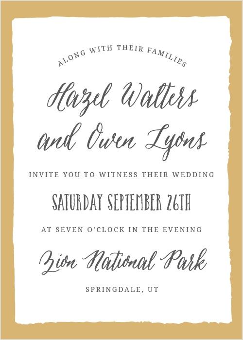 Heaton park wedding invitations