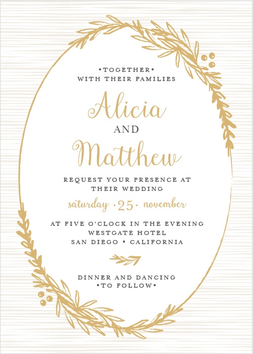 Foil stamped wedding invitations gold silver rose gold basic foil stamped wedding invitations gold silver rose gold basic invite stopboris Image collections