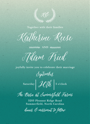 Wedding invitations match your color style free filmwisefo