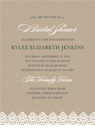 bridal shower invitations wedding shower invitations basicinvite - Wedding Shower Invites