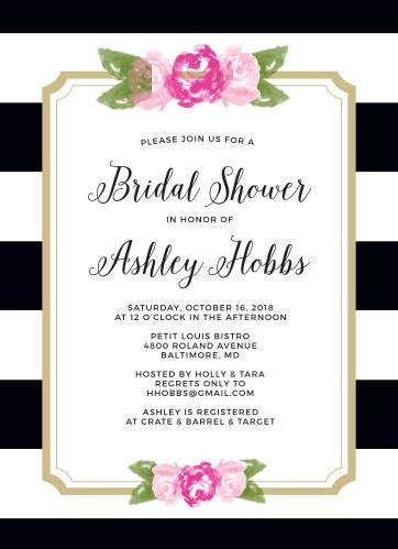 Bridal shower invitations wedding shower invitations basicinvite stopboris Choice Image