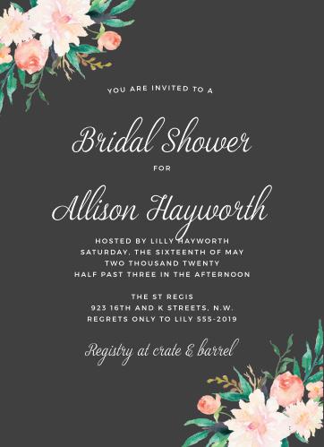 Bridal Shower Invitations Wedding
