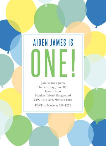 Boys First Birthday Invitations by Basic Invite – Playground Birthday Invitations