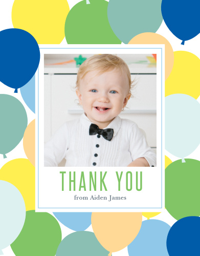 First Birthday Thank You Cards Match Your Color Style Free
