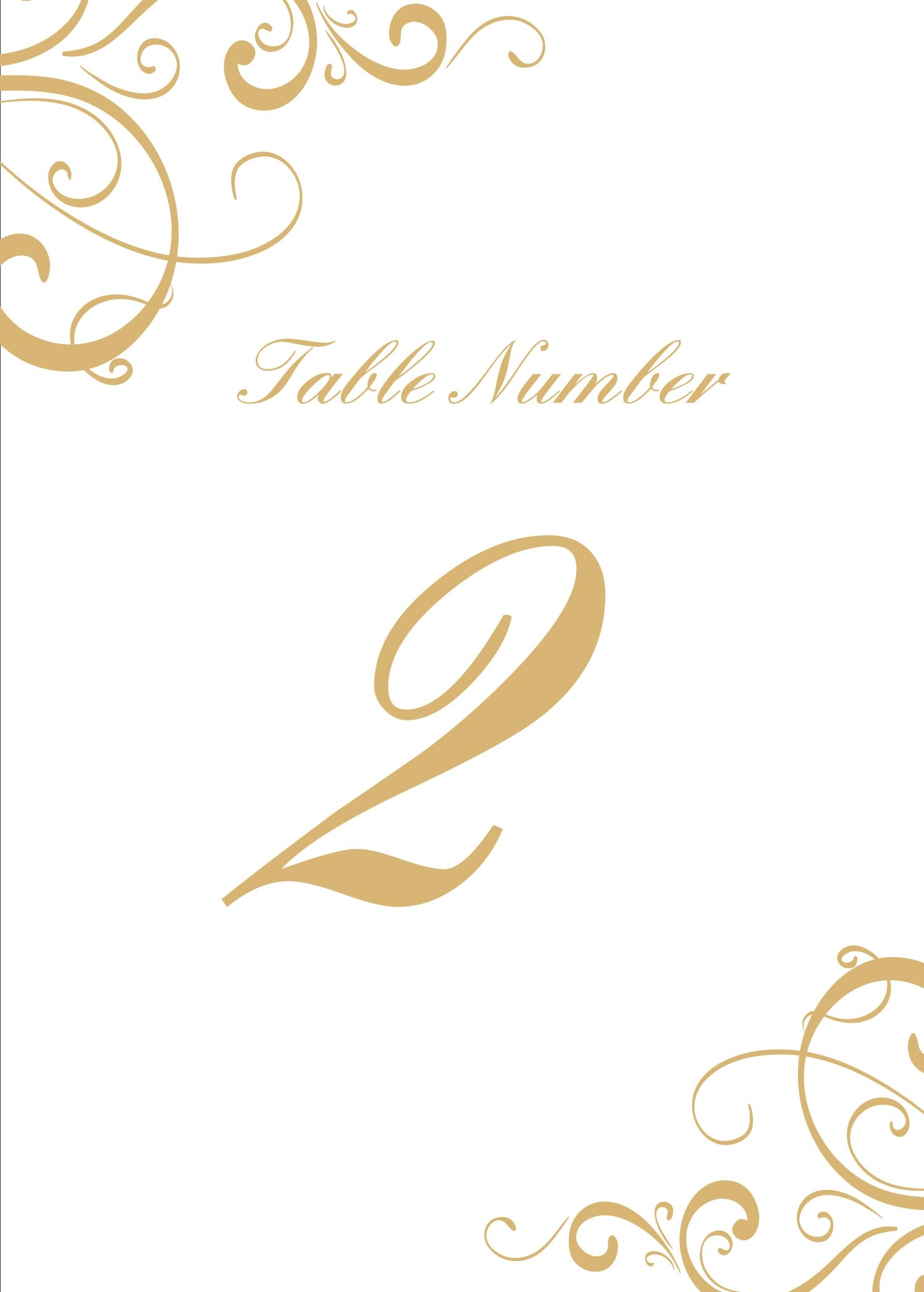 Simple Swirls Table Number Printables By Basic Invite