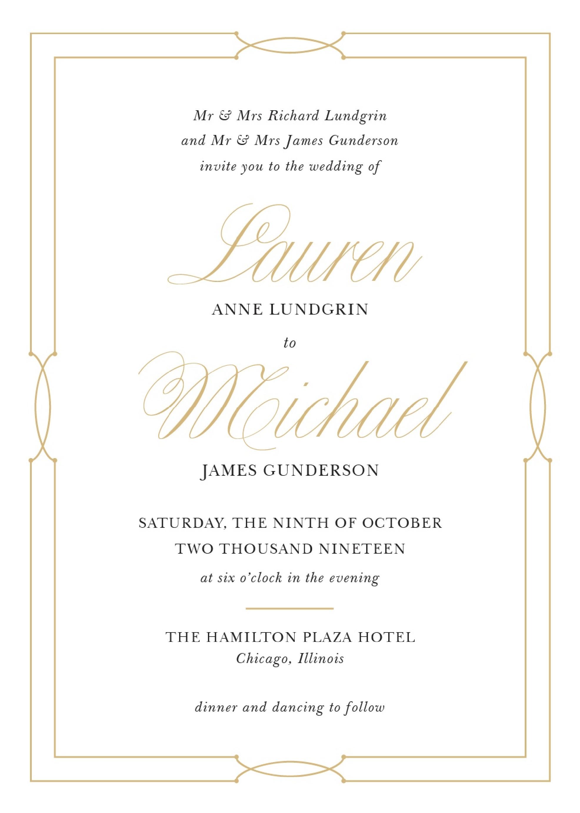 Invitations/Basic Invite Wedding Invitations