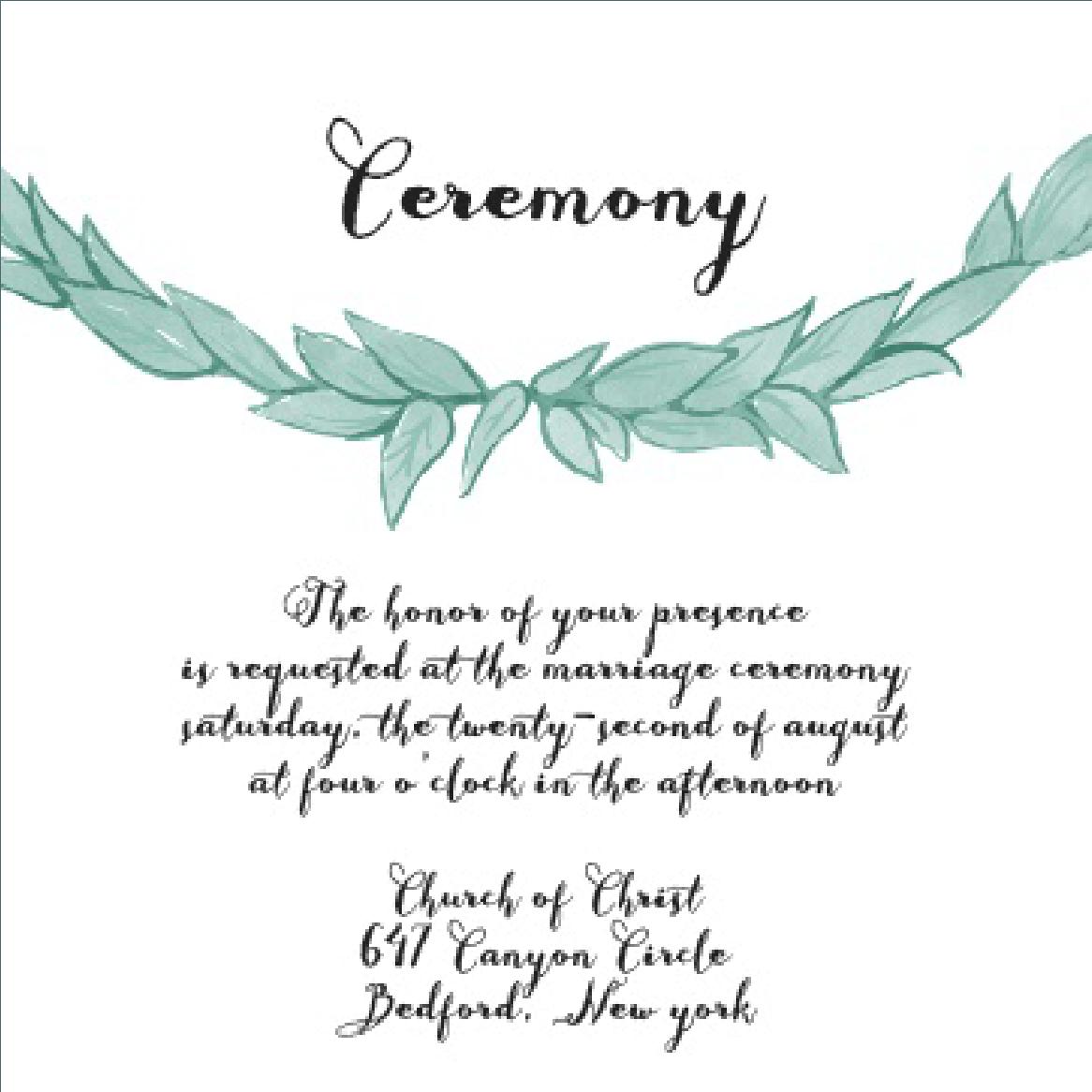 Ceremony Card Image