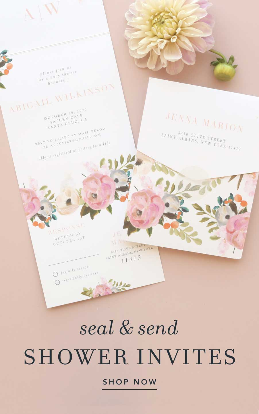 Shop our baby shower seal and send invitations!