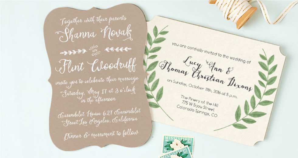 Wedding invitations match your color style free m4hsunfo