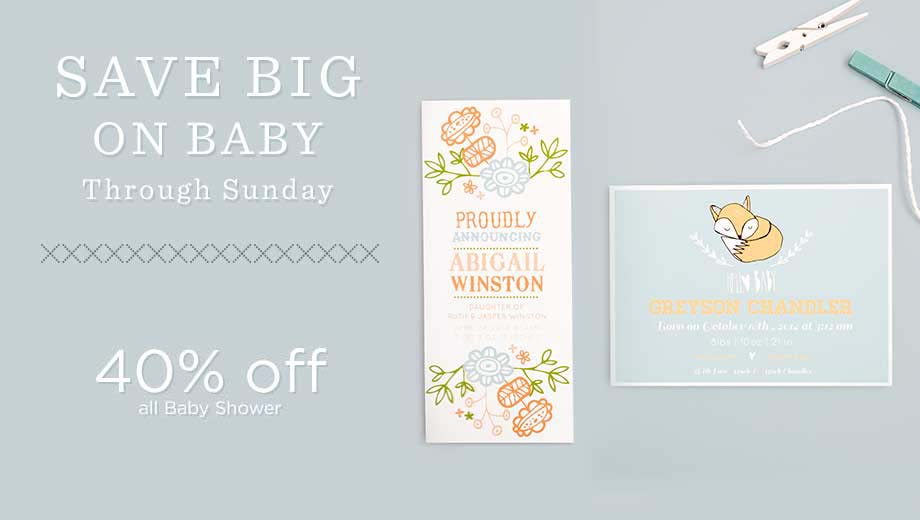 Baby Boy and Girl Birth Announcements