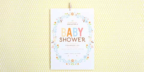 Baby Boy and Girl Shower Invitations