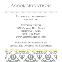 The Irving Accommodation Cards