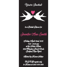 Love Birds Bridal Shower Invitation