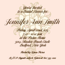 Bouquet Watermark Bridal Shower Invitation
