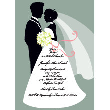 Bride and Groom Bridal Shower Invitation