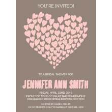 Doodle Heart Bridal Shower Invitation