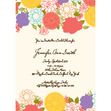 Flower Collage Bridal Shower Invitation