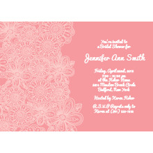 Pink Paisley Flower Bridal Shower Invitation
