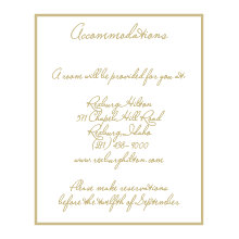 The Chandler Accommodation Cards